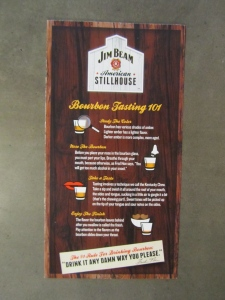 Jim Beam tasting guide.