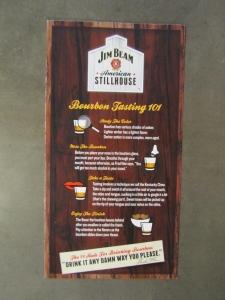 Jim Beam tasting guide.